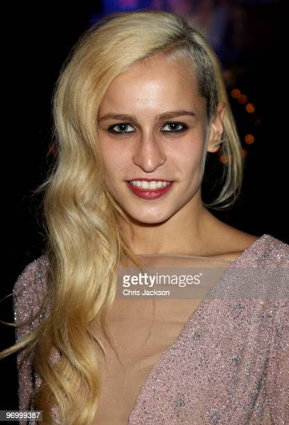 Alica Dellal attends the Love Ball London at the Roundhouse on February 23 2010 in London England The event was hosted by Russian model Natalia...