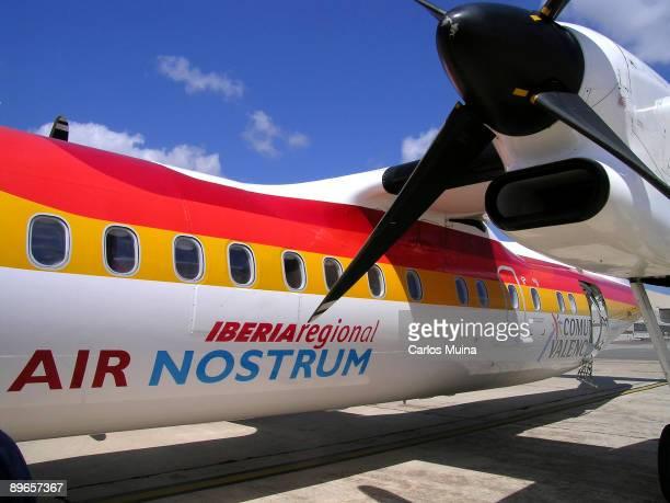 Alicante Airport Valencian Comunity Iberia airplane