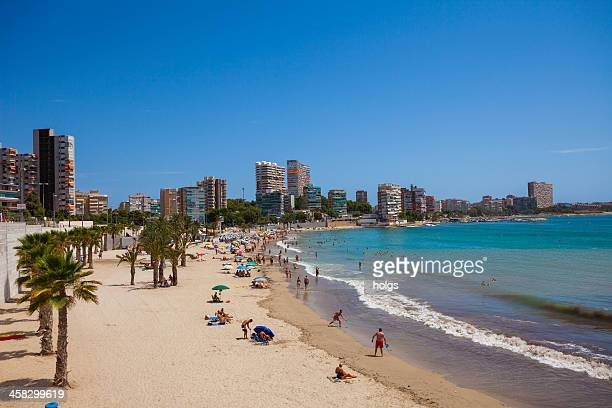 Alicante beach in Summer, Spain