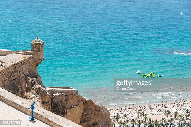 Alicante beach viewed from the castle
