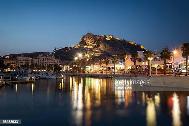 Alicante city at night
