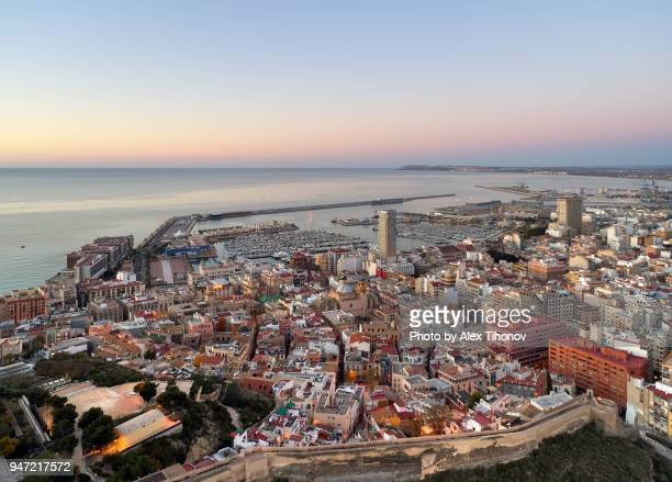 alicante cityscape - alicante stock pictures, royalty-free photos & images