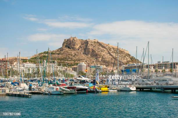 alicante harbour - alicante stock pictures, royalty-free photos & images