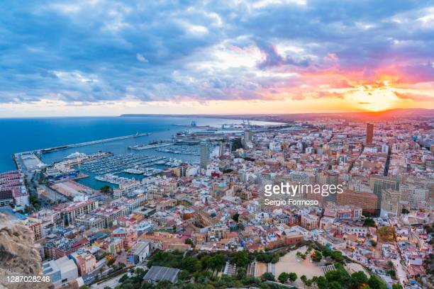 alicante panorama - valencia stock pictures, royalty-free photos & images
