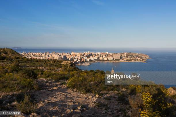alicante skyline (province valencia, spain) - alicante photos et images de collection