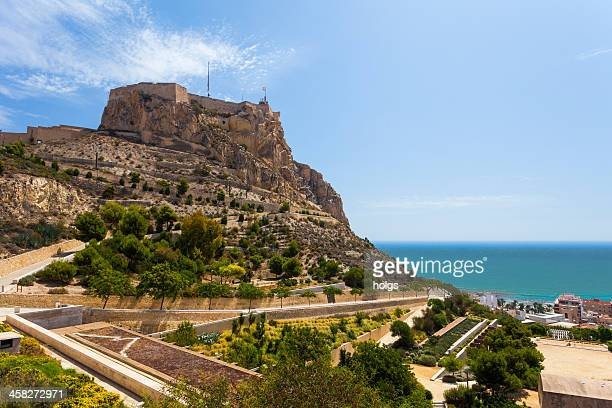Alicante with the Santa Barbara Castle, Spain