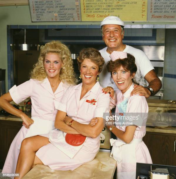 Alice a television situation comedy originally broadcast on CBS Featuring left to right Celia Weston Linda Lavin Vic Tayback and Beth Howland Image...