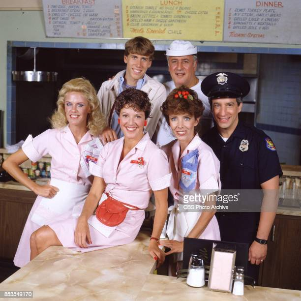 Alice a television situation comedy originally broadcast on CBS Featuring Celia Weston Linda Lavin Beth Howland and Charles Levin In back left to...
