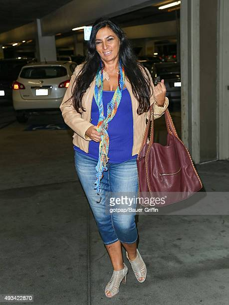 Alice Amter is seen arriving at the ArcLight Theatre on October 19 2015 in Los Angeles California
