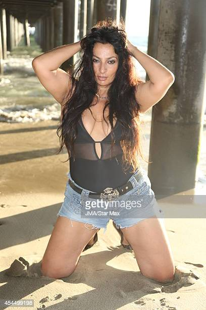 Alice Amter is seen on September 1 2014 doing the ALS Ice Bucket Challenge at Santa Monica Beach in Los Angeles California