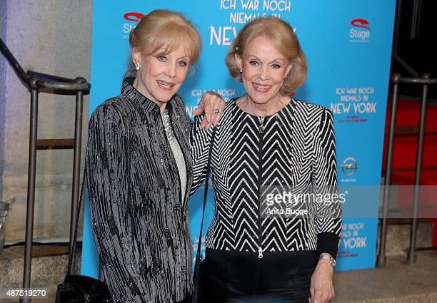 Alice and Ellen Kessler attend the 'Ich war noch niemals in New York' Musical premiere in Berlin at Theater des Westens on March 25 2015 in Berlin...