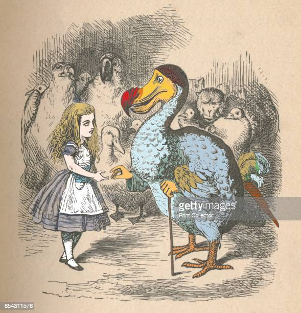 Alice and the Dodo 1889 Lewis Carrolls Alice in Wonderland as illustrated by John Tenniel From Alices Adventures in Wonderland by Lewis Carroll...