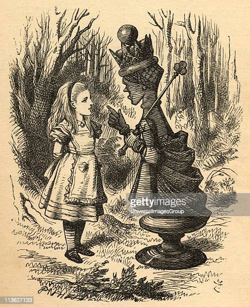 Alice and the Red QueenIllustration by Sir John Tenniel 18201914 From the book Through the LookingGlass and What Alice Found There by Lewis Carroll...