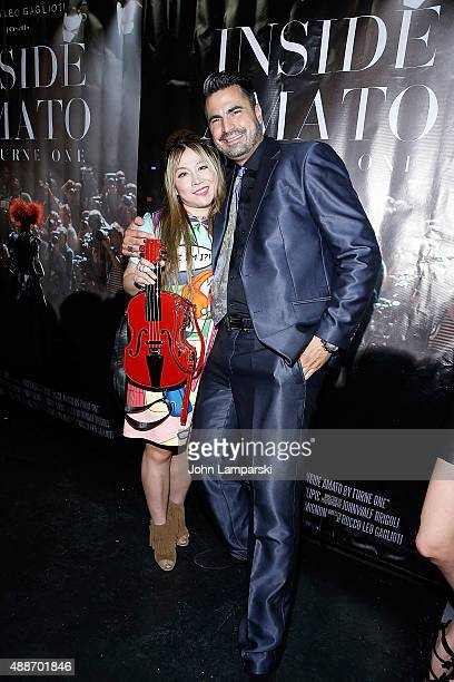 Alice Aoki and Rocco Leo Gaglioti attend 'Inside Amato' New York premiere at Liberty Theater on September 16 2015 in New York City