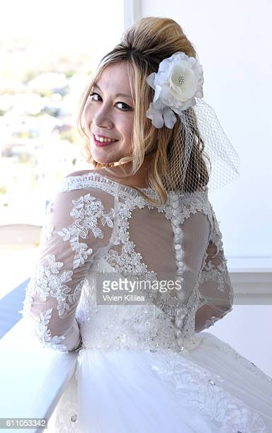 Alice Aoki prepares for her wedding at the Catalina Island Inn on September 25 2016 on Catalina Island California