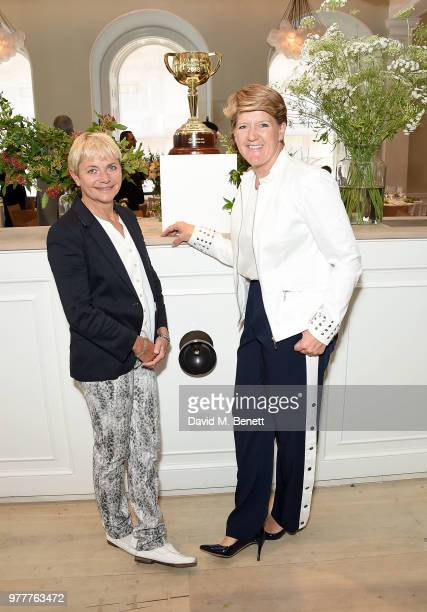 Alice Arnold and Claire Balding attend the Victoria Racing Club lunch celebrating the Melbourne Cup Carnival's global significance on the eve of...