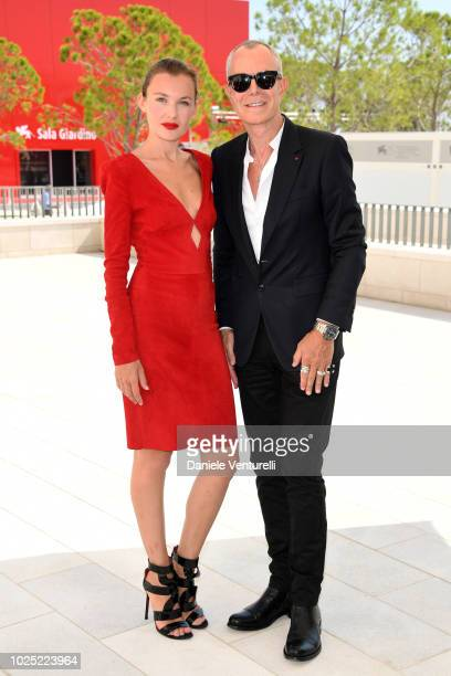Alice Aufray and Jean Claude Jitrois attend 'The Aspern Papers' photocall during the 75th Venice Film Festival at Sala Casino on August 30 2018 in...