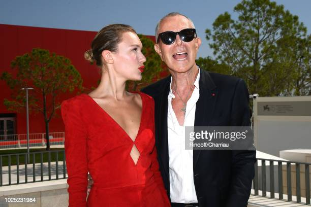 Alice Aufray and JeanClaude Jitrois attend 'The Aspern' photocall during the 75th Venice Film Festival at Sala Casino on August 30 2018 in Venice...