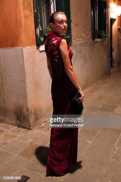 Alice Aufray attends the Celebrazione Party By Chopard and Generali To Honor The 75th Venice Film Festival at Palazzo Morosini on August 30 2018 in...