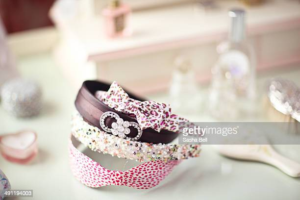 Alice bands on dressing table