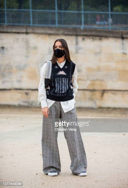 Alice Barbier seen outside Dior during Paris Fashion Week - Womenswear Spring Summer 2021 : Day Two on September 29, 2020 in Paris, France.