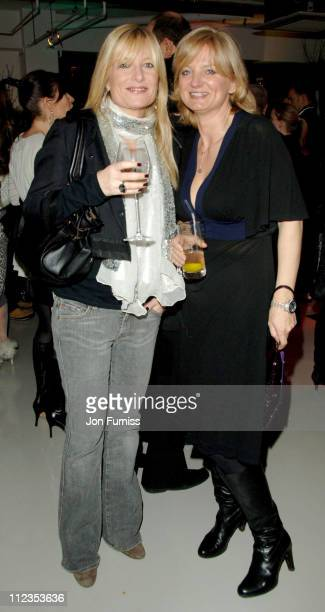 Alice Beer and Gaby Roslin during Richard Young Private View in London Great Britain
