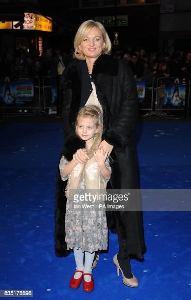 Alice Beer and guest arriving for the premiere of Monsters Vs Aliens at the Vue West End Leicester Square London