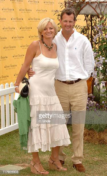 Alice Beer and guest during The Veuve Clicquot Gold Cup July 23 2006 at Cowdray Park in Midhurst West Sussex United Kingdom