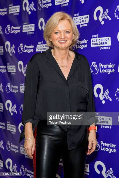 Alice Beer attends the Ultimate News Quiz drinks reception at Grand Connaught Rooms on March 20, 2019 in London, England. This annual charity quiz is...