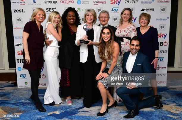 Alice Beer , Georgia Toffolo , Alison Hammond , Ruth Langsford , Chris Steele , Sharon Marshall , Deidre Sanders and Dr Ranj Singh with the TRIC...