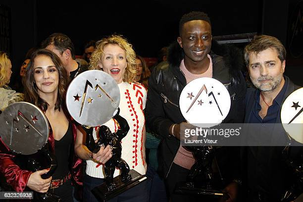 Alice Belaidi Alexandra Lamy Ahmed Sylla and Ludovic Bernard attend Closing Ceremony during the 20th l'Alpe d'Huez International Comedy Film Festival...
