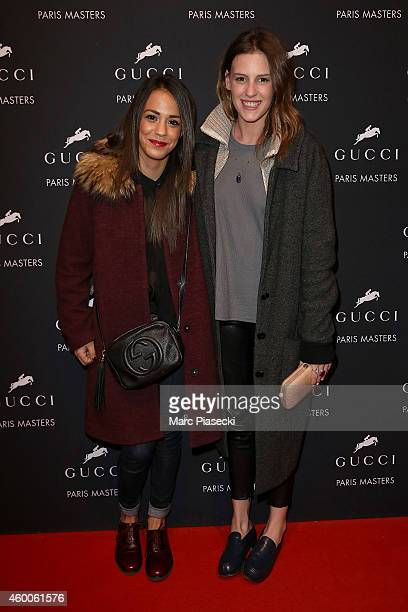 Alice Belaidi and Juliette Dol attend Day 3 of the Gucci Paris Masters 2014 on December 6 2014 in Villepinte France