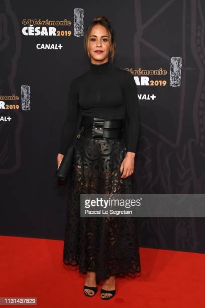 Alice Belaidi arrives at the Cesar Film Awards 2019 at Salle Pleyel on February 22, 2019 in Paris, France.