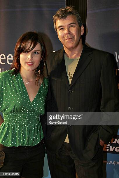 Alice Bell and Paul Goldman during 2006 Inside Film Awards Announcement of Nominees at Water Bar at Blue Woolloomooloo Bay in Sydney NSW Australia