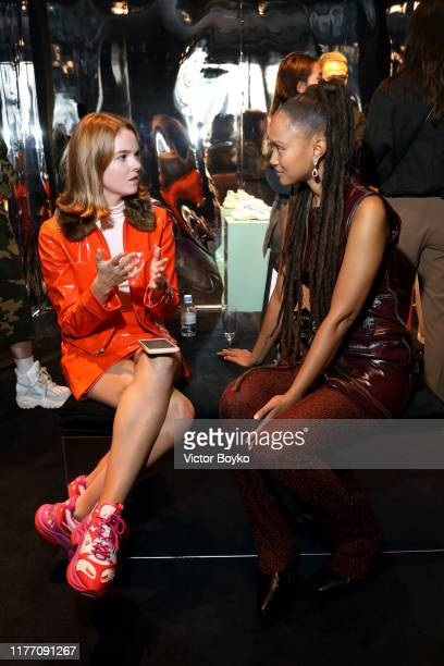 Alice Bell and Victoria Lejonhjarta attend the Stella Luna X Refinery 29 Pop Up Store Paris Fashion Week Event on September 25 2019 in Paris France