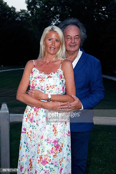 Alice Bertheaume and Gonzague Saint Bris attend 21th 'La Foret des Livres ' Diner Party at Clos Luce Castle on August 27 2016 in Amboise France