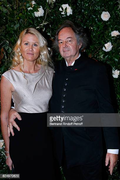 Alice Bertheaume and Gonzague Saint Bris attend the Diner des amis de Care for the 70th anniversary of the Association Held at Espace Cambon on...