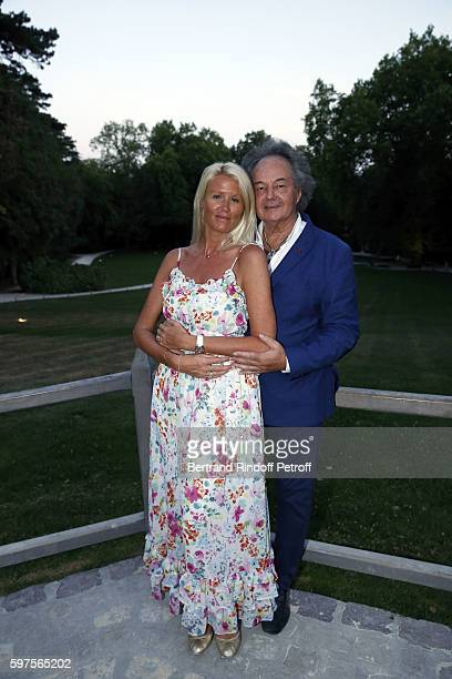 Alice Bertheaume and Gonzague Saint Bris attend the Diner Party at 'Chateau du Clos Lucebefore 21th 'La Foret Des Livres' Book Fair on August 27 2016...