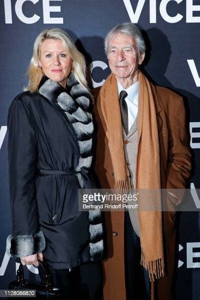 Alice Bertheaume and JeanClaude Narcy attend the Vice Paris Premiere at Cinema Gaumont Opera on February 07 2019 in Paris France