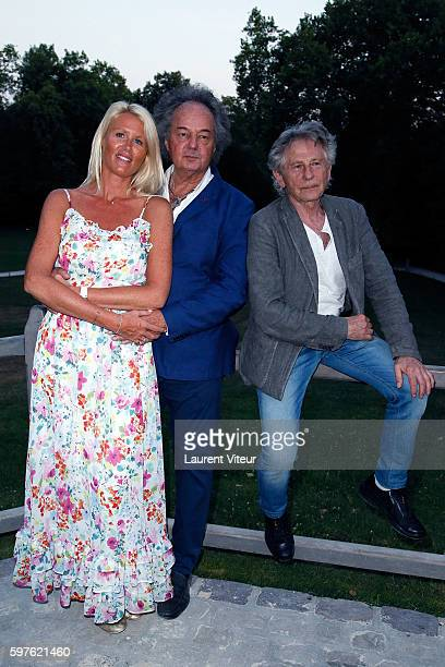 Alice Bertheaume Gonzague Saint Bris and Roman Polanski attend 21th 'La Foret des Livres ' Diner Party at Clos Luce Castle on August 27 2016 in...