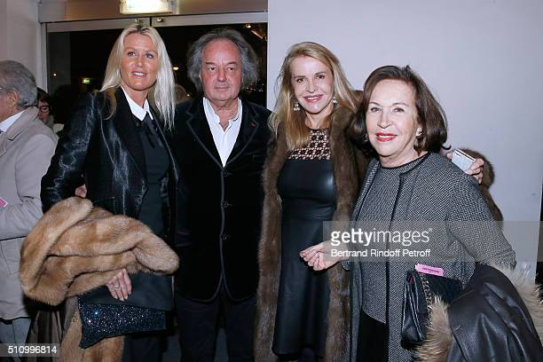 Alice Bertheaume her companion Gonzague SaintBris Eugenia Grandchamp Des Raux and Francoise Gallimard attend Le Retour De Marlene Dietrich Theater...