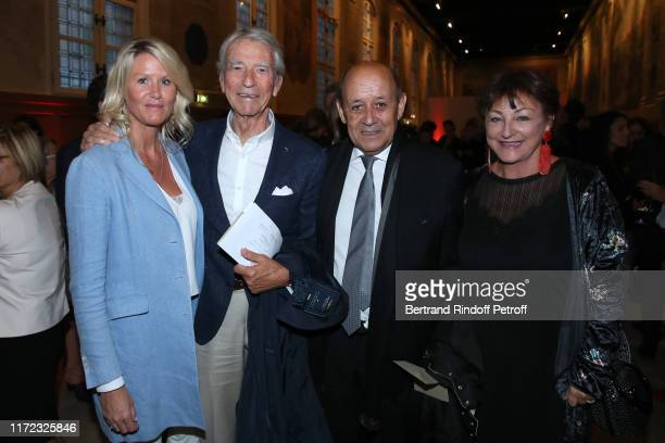 Alice Bertheaume Jean Claude Narcy Minister of Foreign Affairs JeanYves Le Drian and his wife Maria Le Drian attend the Tosca Opera en Plein Air...