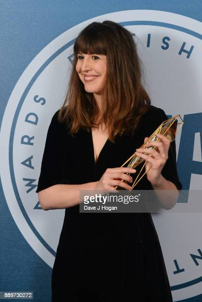 Alice Birch winner of Best Screenplay for Lady Macbeth in the winners room at the British Independent Film Awards held at Old Billingsgate on...