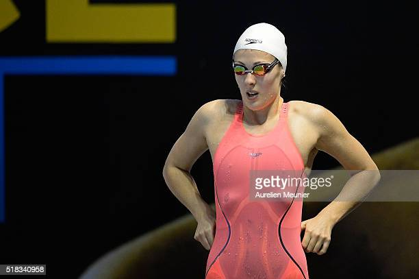 Alice Boutant of France prepares to compete in the 50m Wom freestyle on day three of the French National Swimming Championships on March 31 2016 in...