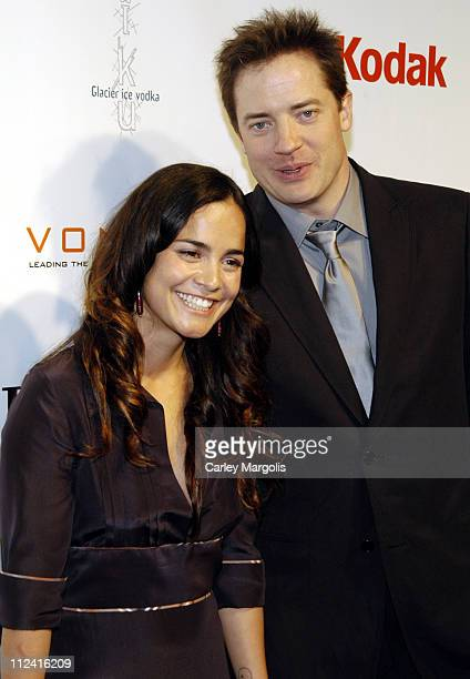 Alice Braga and Brendan Fraser during 5th Annual Tribeca Film Festival 'Journey to the End of the Night' Premiere After Party Premiere Film Music...