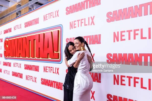 Alice Braga and Emanuelle Araujo attend the Netflix Samantha Sao Paulo Premiere at Shopping JK Iguatemi on June 26 2018 in Sao Paulo Brazil