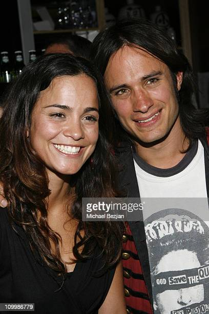 Alice Braga and Gael Garcia Bernal during 2006 Park City Heineken Lounge Hosts Solo Dios Sabe Party at Village at the Lift in Park City Utah United...