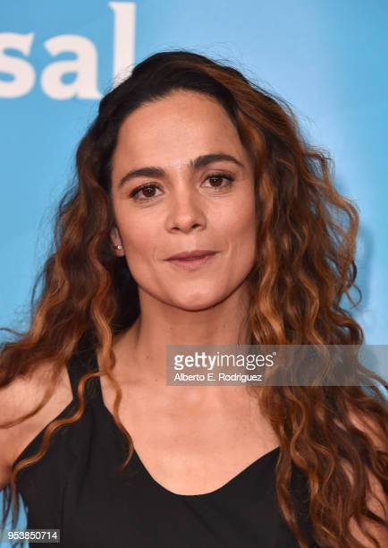 Alice Braga attends NBCUniversal's Summer Press Day 2018 at The Universal Studios Backlot on May 2 2018 in Universal City California