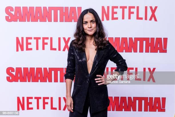 Alice Braga attends the Netflix Samantha Sao Paulo Premiere at Shopping JK Iguatemi on June 26 2018 in Sao Paulo Brazil