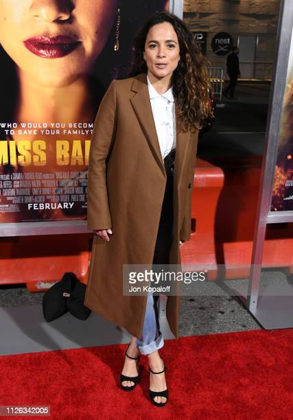 Alice Braga attends the premiere of Columbia Pictures' 'Miss Bala at Regal LA Live Stadium 14 on January 30 2019 in Los Angeles California